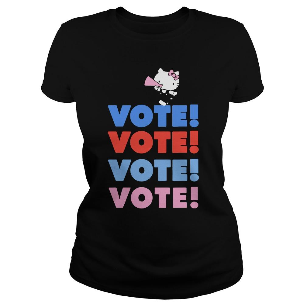 Cheer Rally Hello Kitty Vote Hoodie