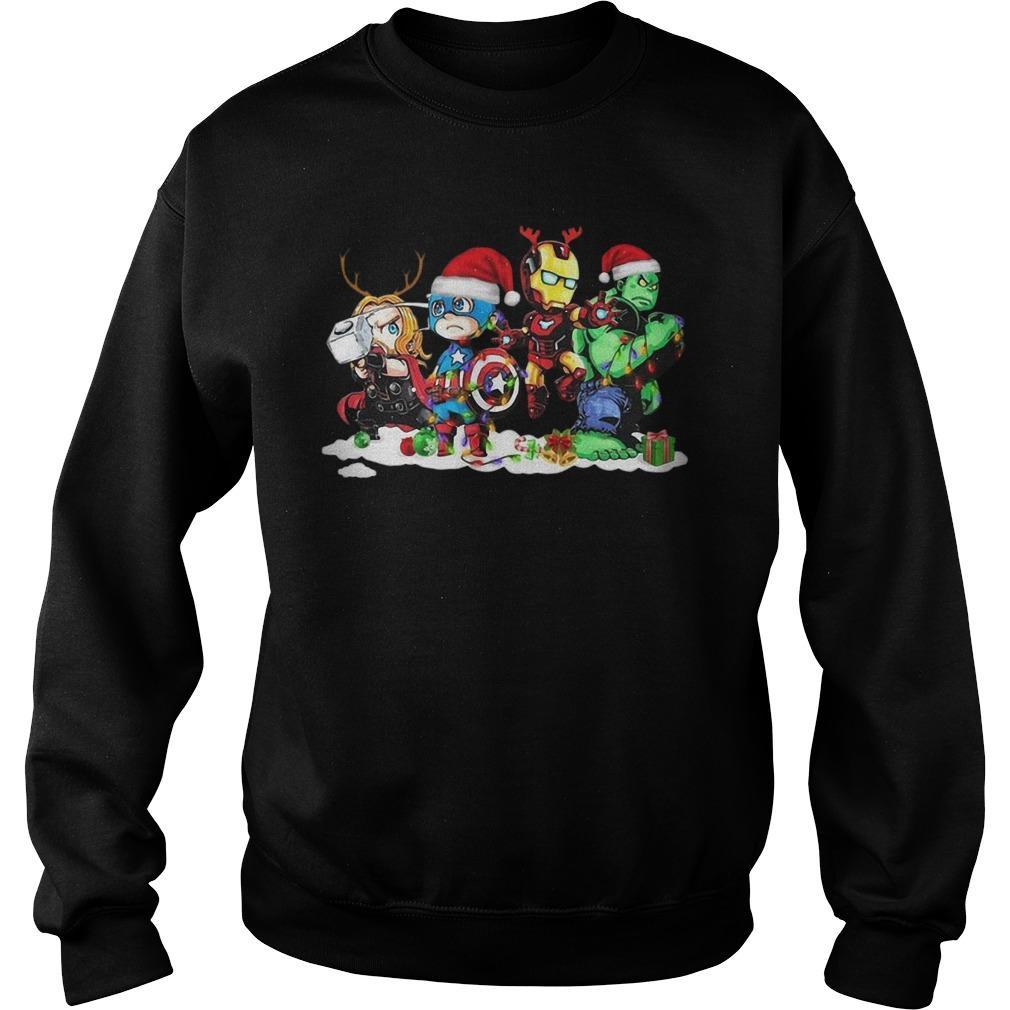 Christmas Avengers Captain Iron Man Thor Hulk Sweater