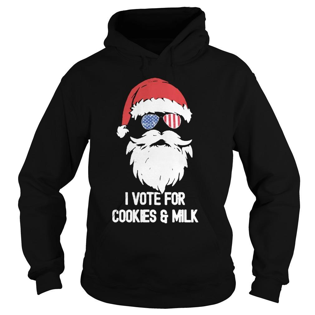 Christmas Election Santa I Vote For Cookies & Milk Hoodie