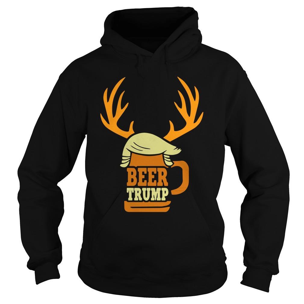 Christmas Reindeer Beer Trump Hoodie
