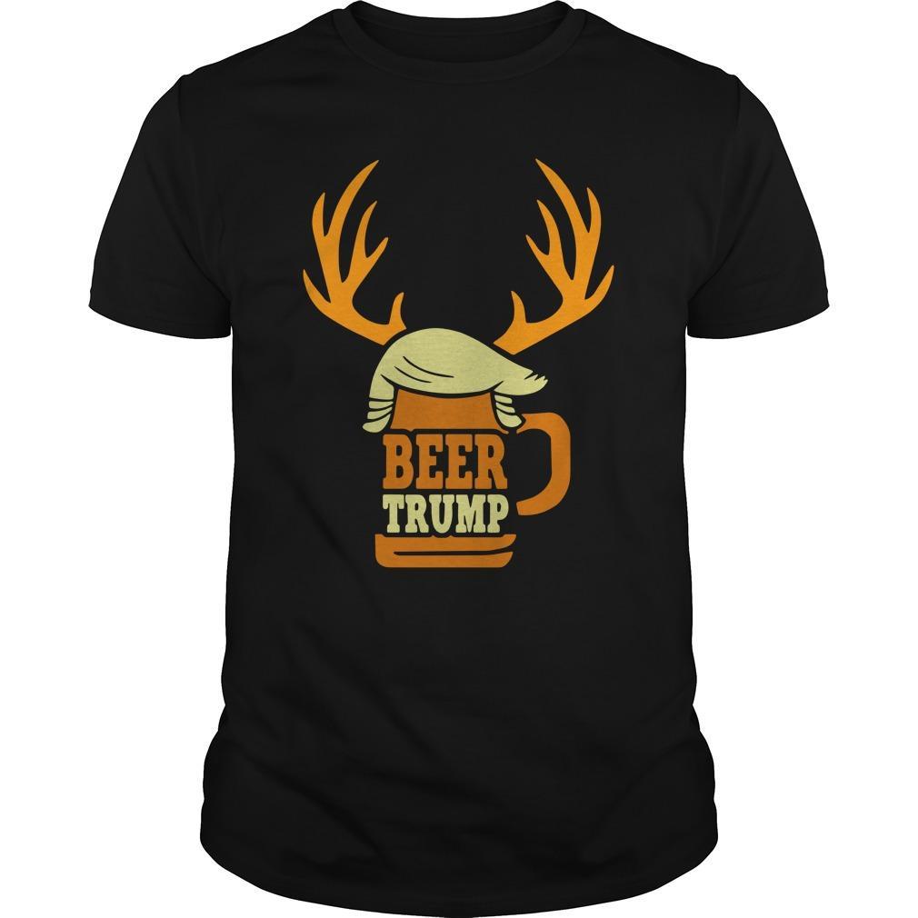 Christmas Reindeer Beer Trump Longsleeve