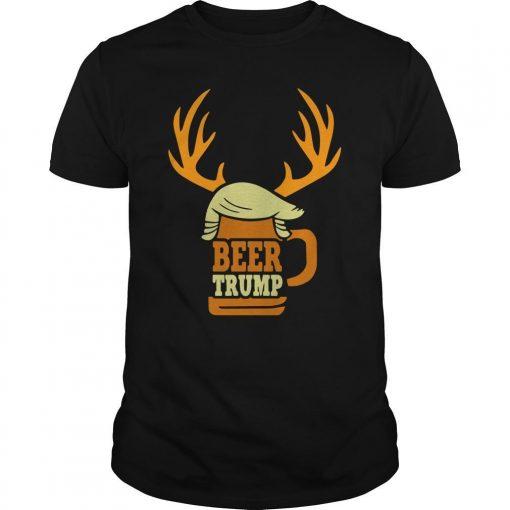 Christmas Reindeer Beer Trump Shirt