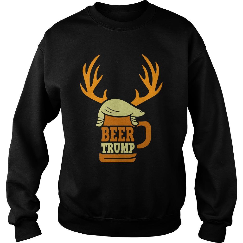Christmas Reindeer Beer Trump Sweater