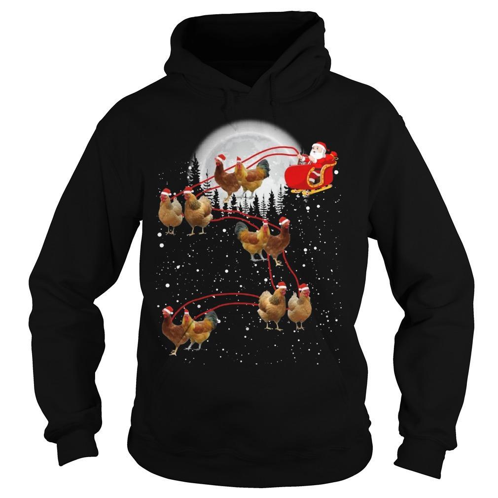Christmas Santa Chicken Hoodie