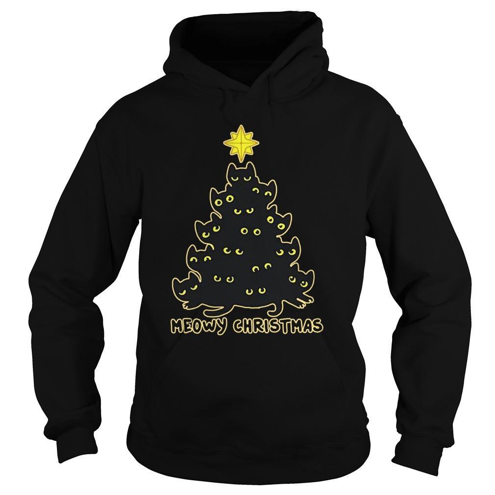 Christmas Tree Meowy Christmas Hoodie