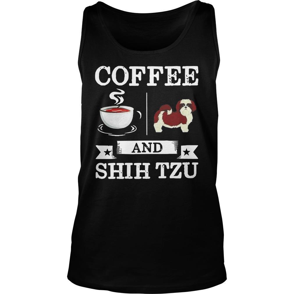 Coffee And Shih Tzu Tank Top