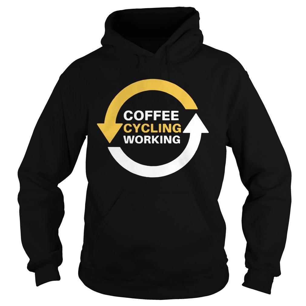 Coffee Cycling Working Hoodie