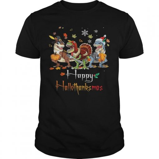 Costume Dinosaur Happy Hallothanksmas Shirt