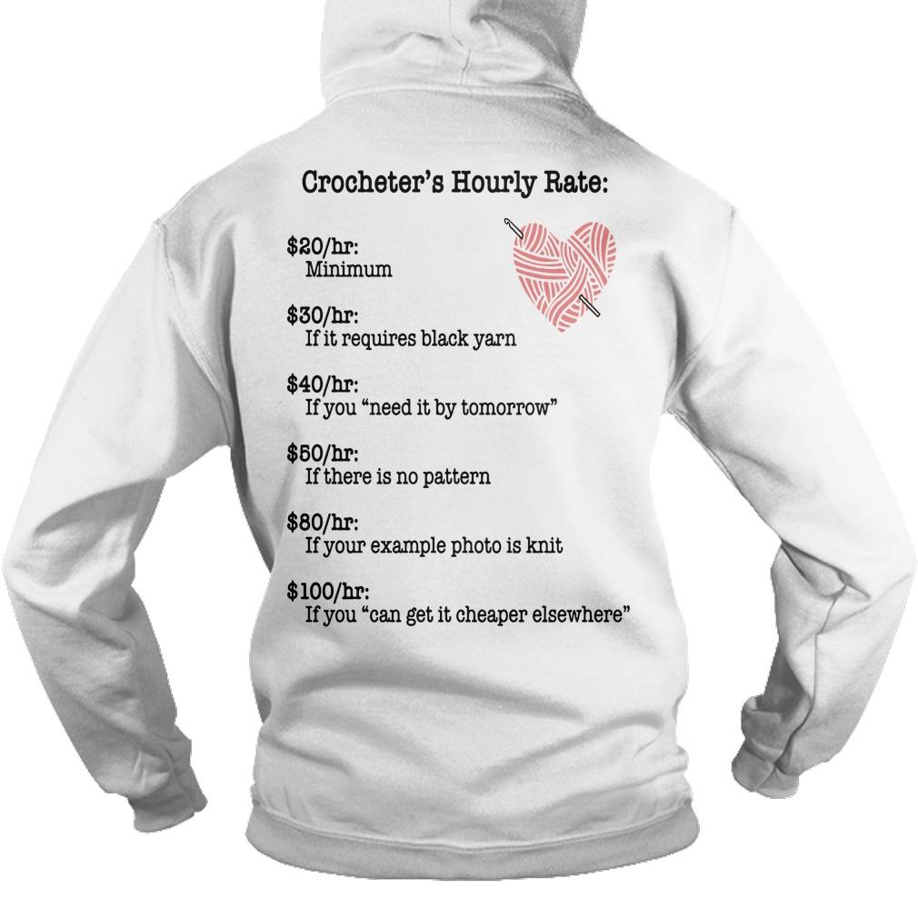 Crocheter's Hourly Rate Minimum If It Requires Black Yarn Hoodie
