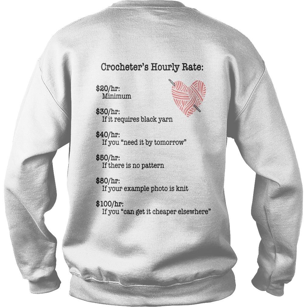 Crocheter's Hourly Rate Minimum If It Requires Black Yarn Sweater