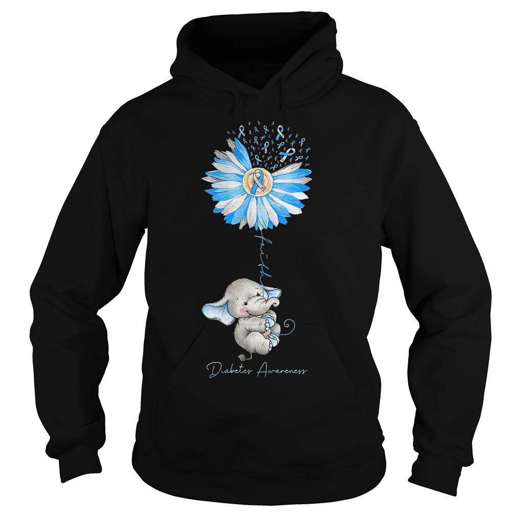 Dandelion Elephant Diabetes Awareness Hoodie