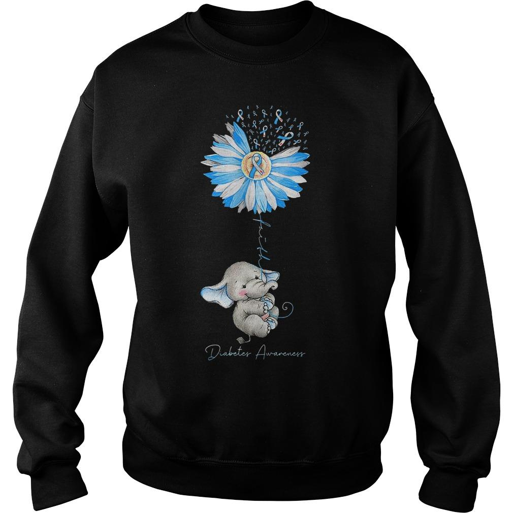 Dandelion Elephant Diabetes Awareness Sweater