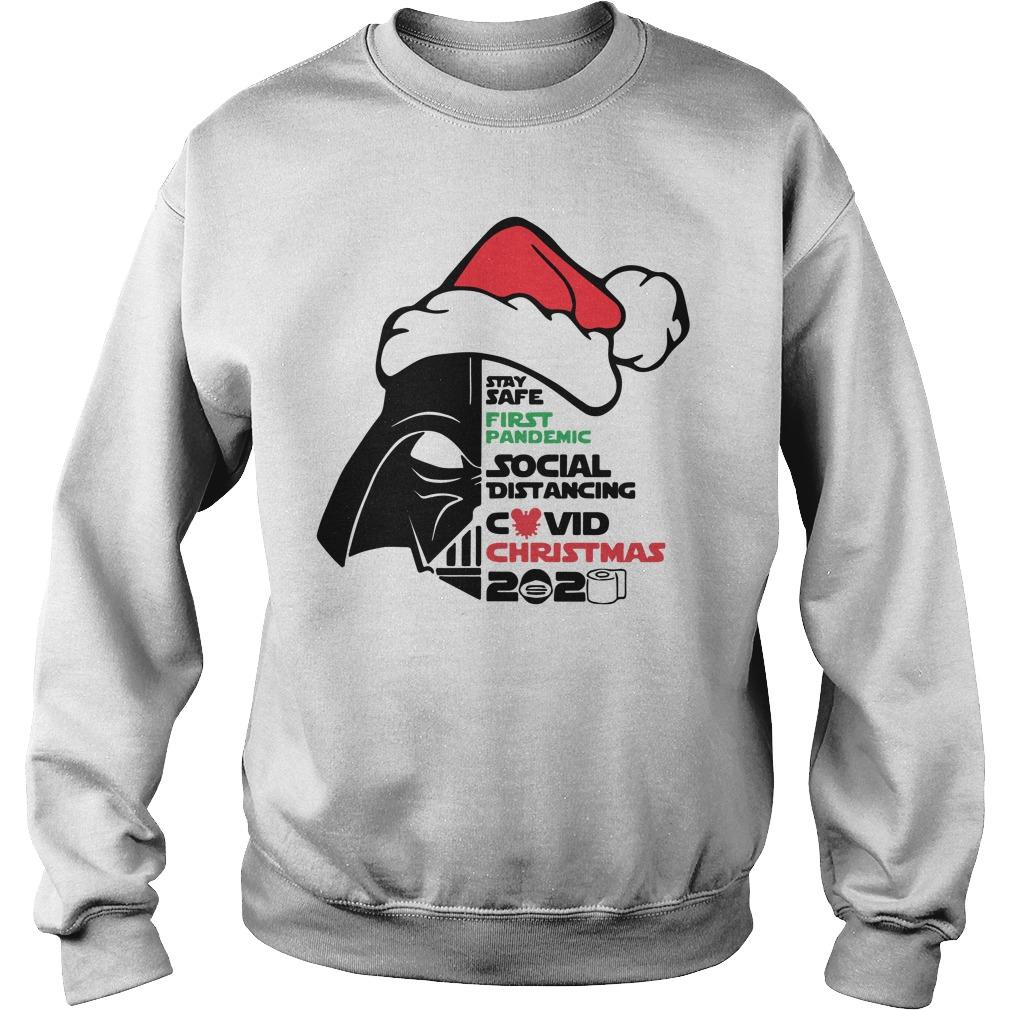 Darth Vader Stay Safe First Pandemic Social Distancing Covid Christmas 2020 Sweater