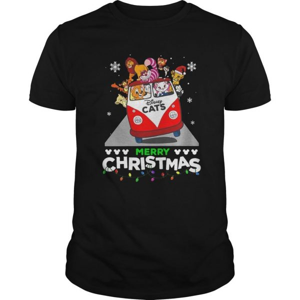 Disney Cat Merry Christmas Shirt