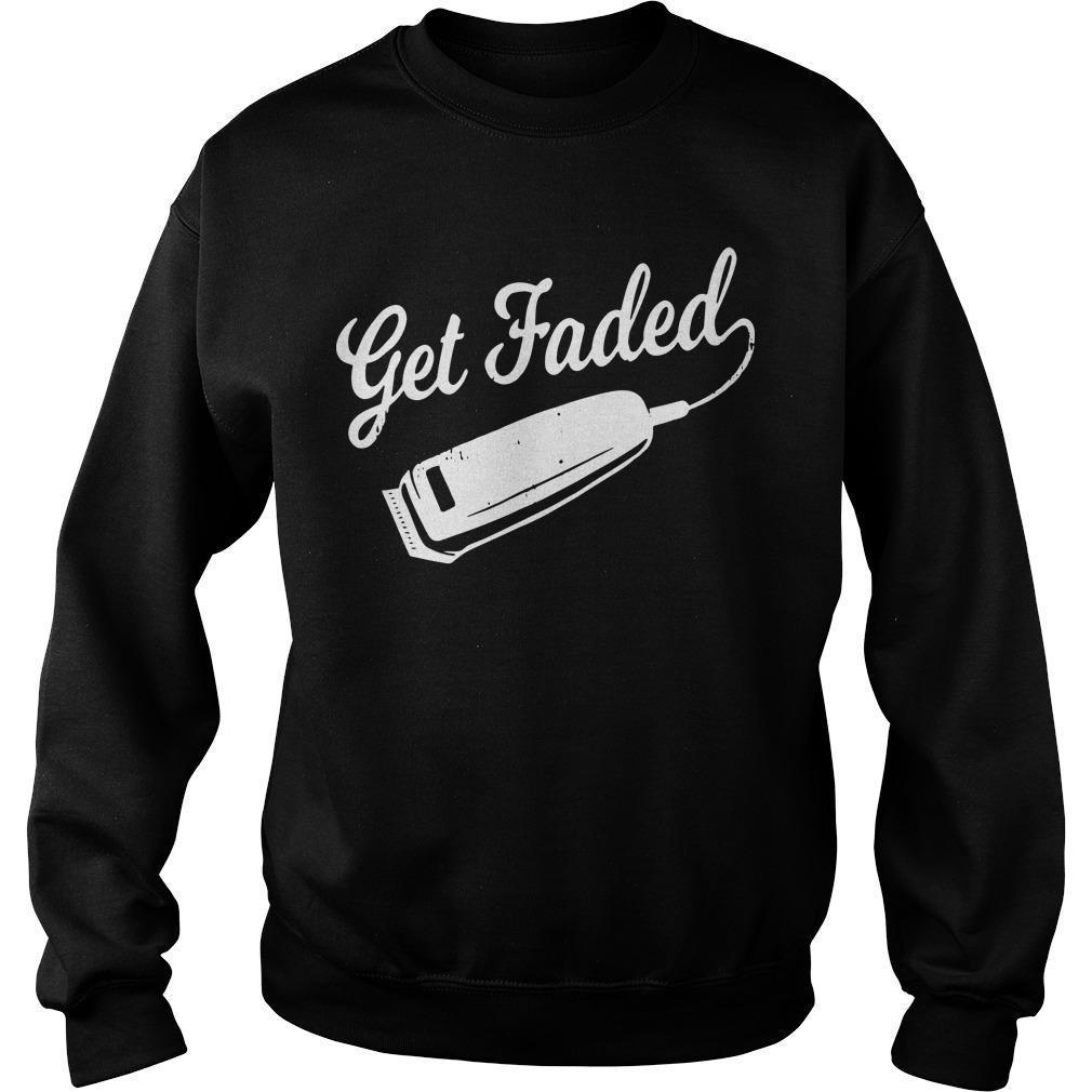 Distressed Barber Get Faded Sweater
