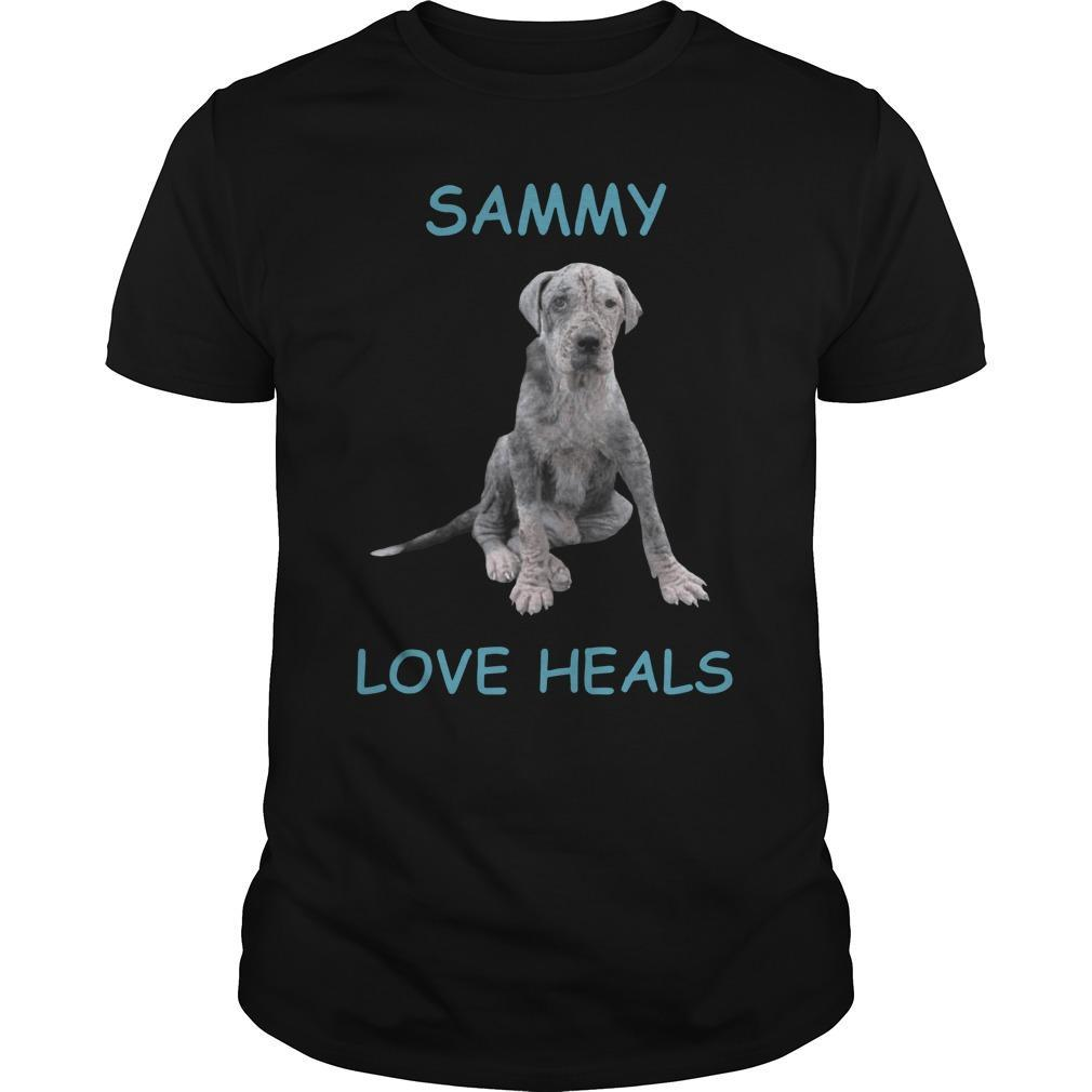 Dog Sammy Love Heals Longsleeve