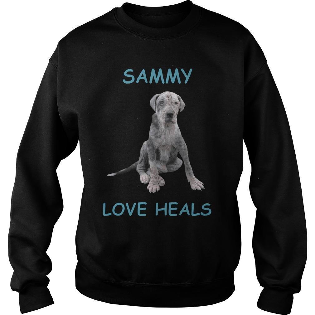 Dog Sammy Love Heals Sweater