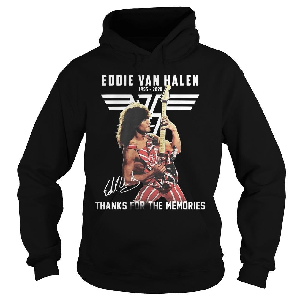 Eddie Van Halen 1955 2020 Signature Thanks For The Memories Hoodie