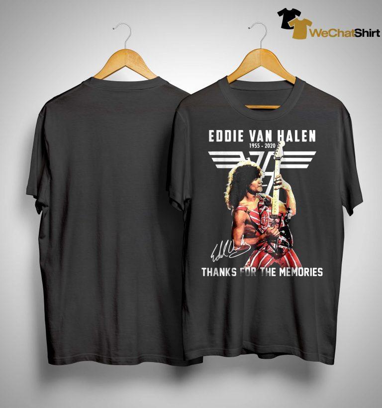 Eddie Van Halen 1955 2020 Signature Thanks For The Memories Shirt