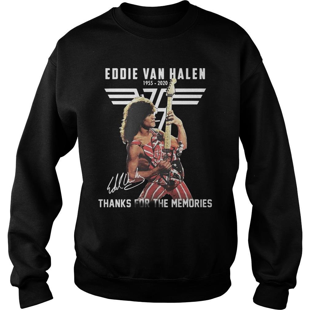 Eddie Van Halen 1955 2020 Signature Thanks For The Memories Sweater
