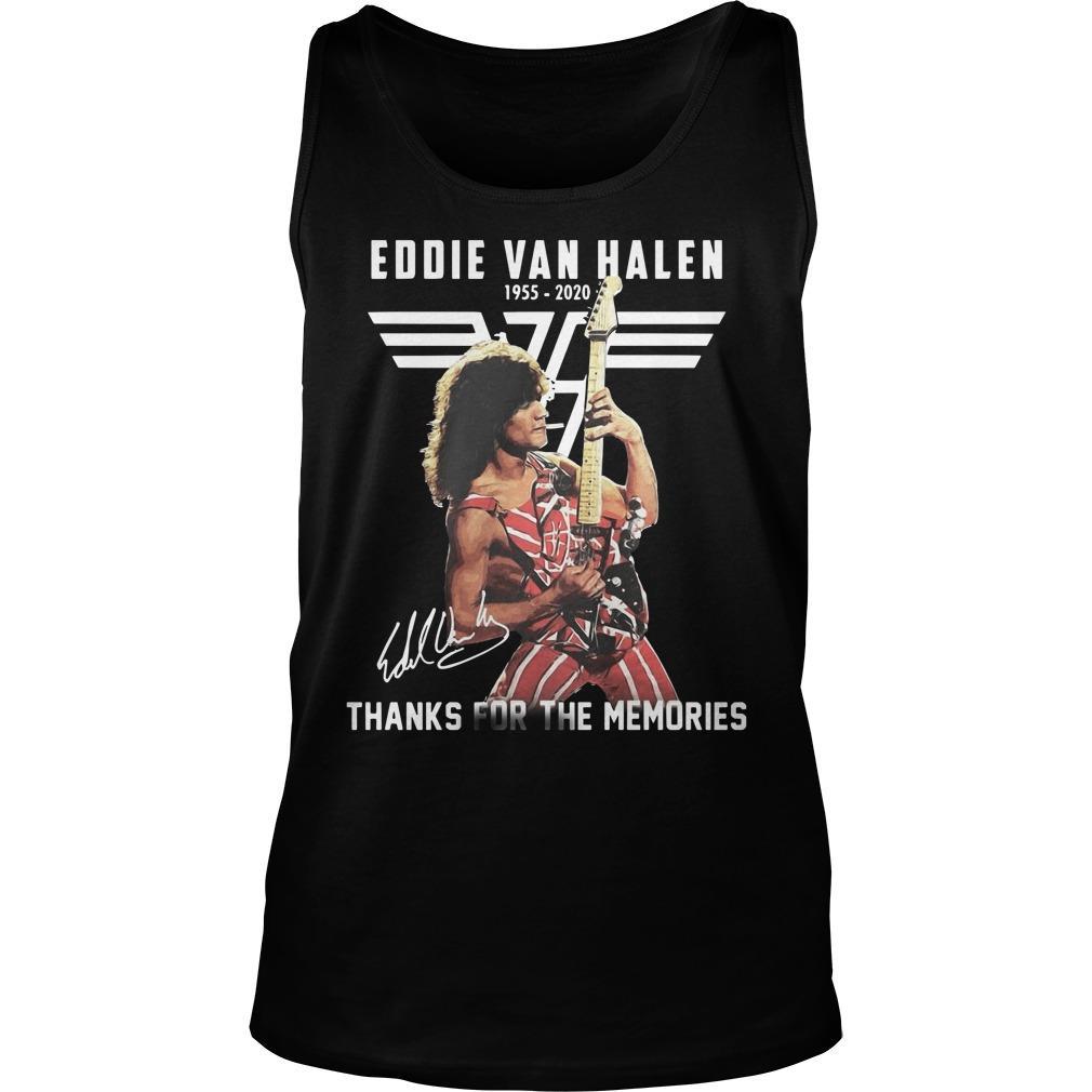Eddie Van Halen 1955 2020 Signature Thanks For The Memories Tank Top
