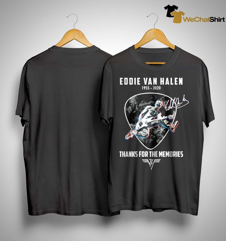 Eddie Van Halen 1955 2020 Thanks For The Memories Shirt