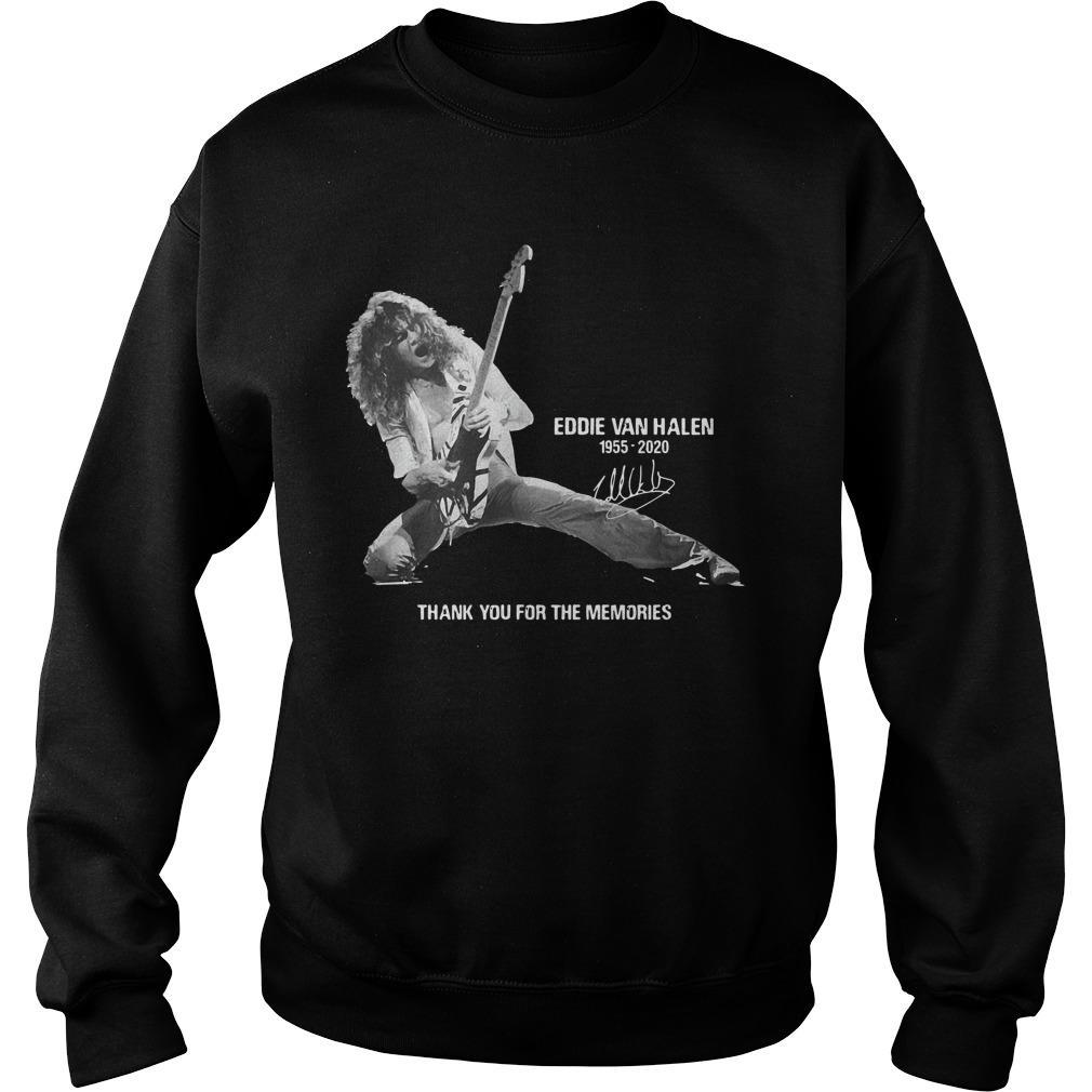 Eddie Van Halen Signature 1955 2020 Thank You For The Memories Sweater