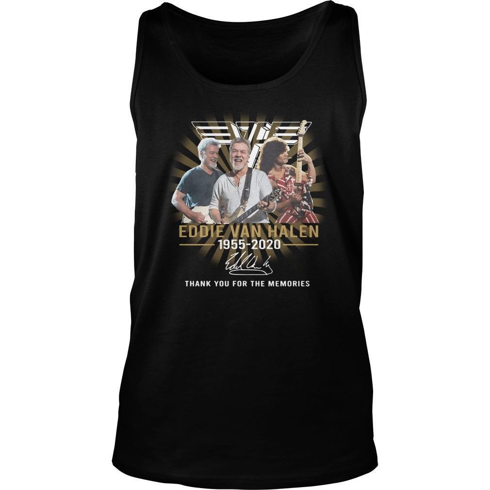 Eddie Van Halen Signature Thank You For The Memories Tank Top
