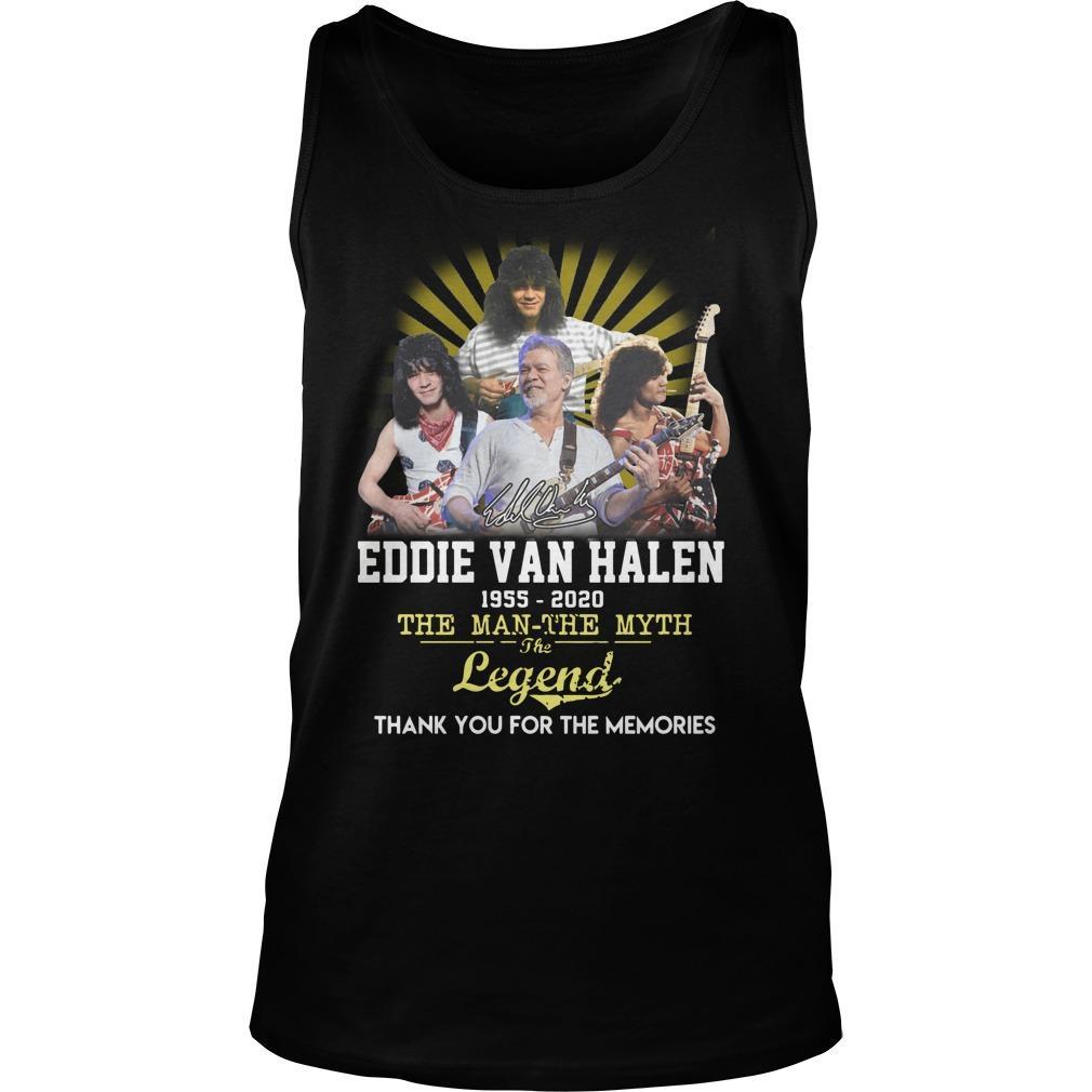 Eddie Van Halen The Man The Myth The Legend Tank Top