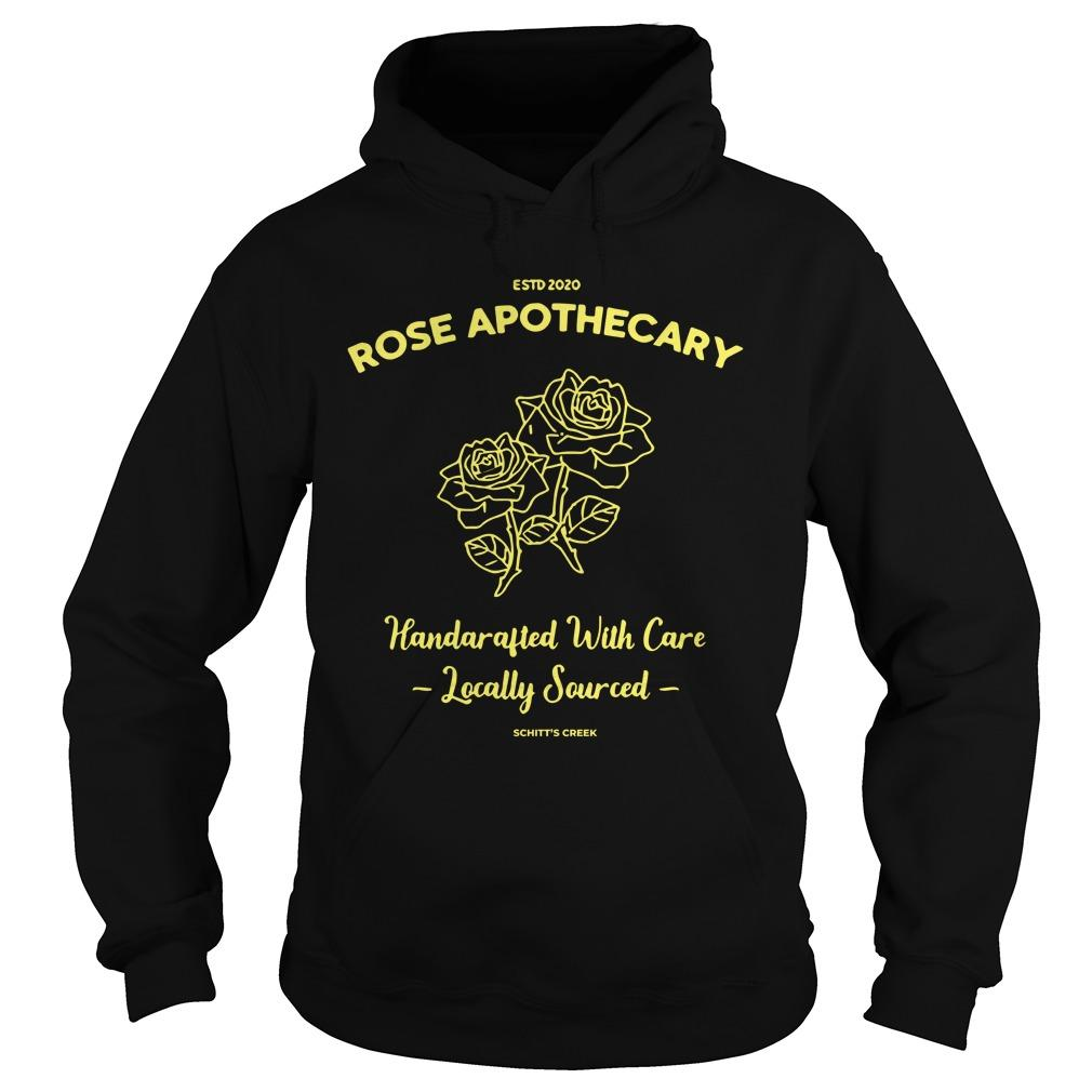 Estd 2020 Rose Apothecary Handcrafted With Care Locally Sourced Hoodie
