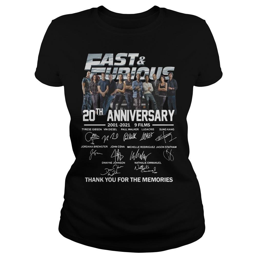 Fast And Furious Signatures 20th Anniversary Longsleeve
