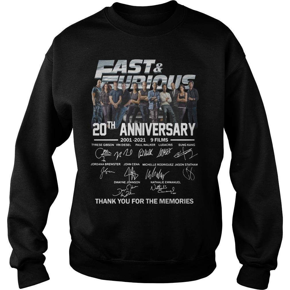 Fast And Furious Signatures 20th Anniversary Sweater