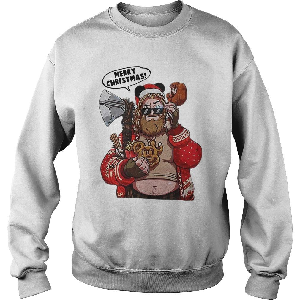 Fat Thor Merry Christmas Sweater