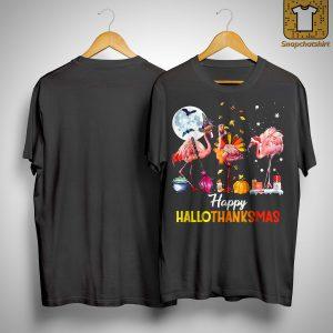Flamingo Happy Hallothanksmas Shirt