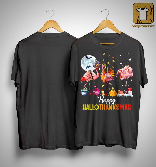 Flamingo Happy Hallothanksmas Shirt