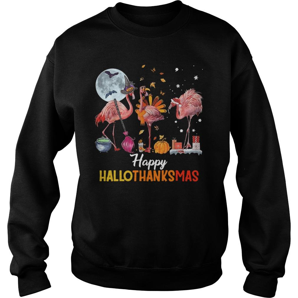 Flamingo Happy Hallothanksmas Sweater
