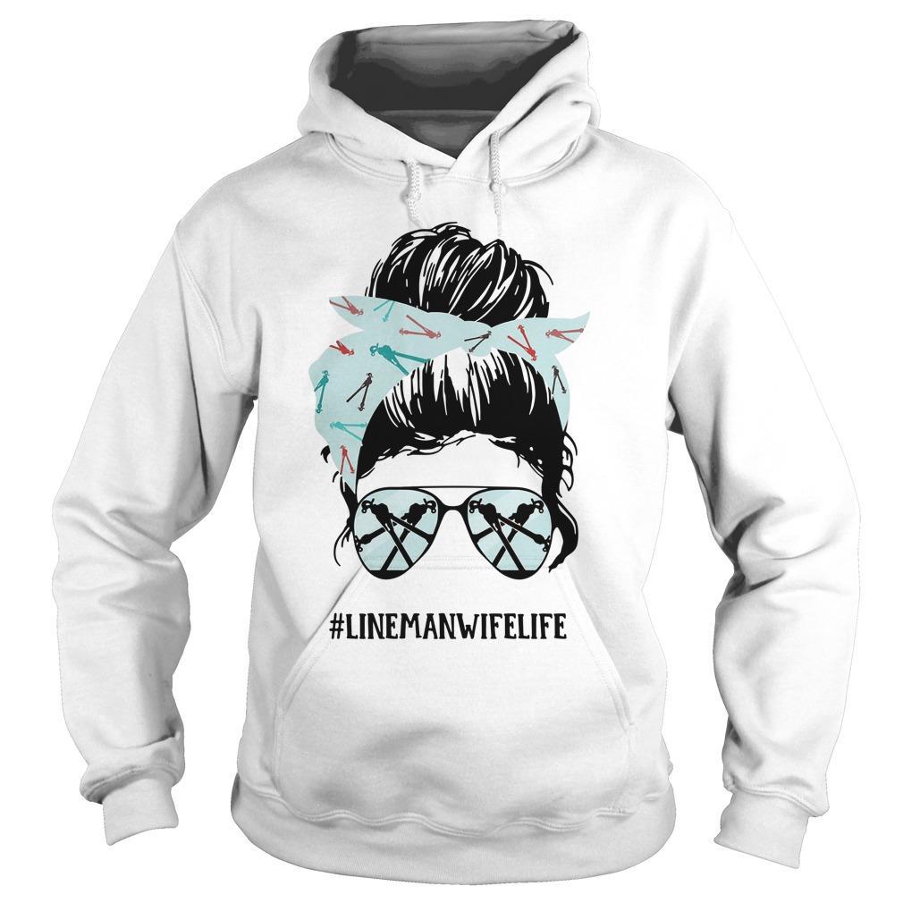 Glasses Girl #linemanwifelife Hoodie