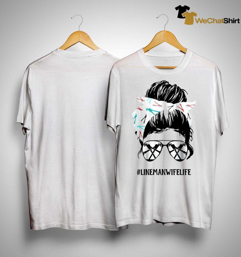 Glasses Girl #linemanwifelife Shirt