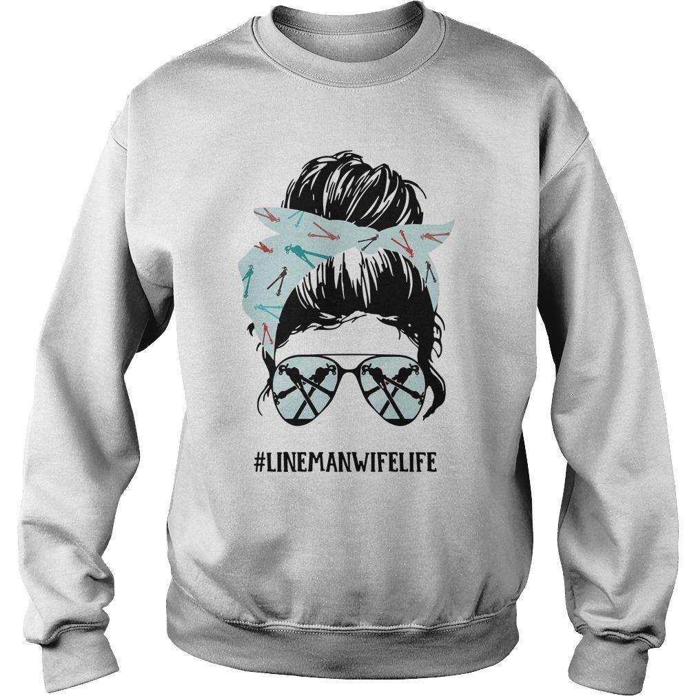 Glasses Girl #linemanwifelife Sweater