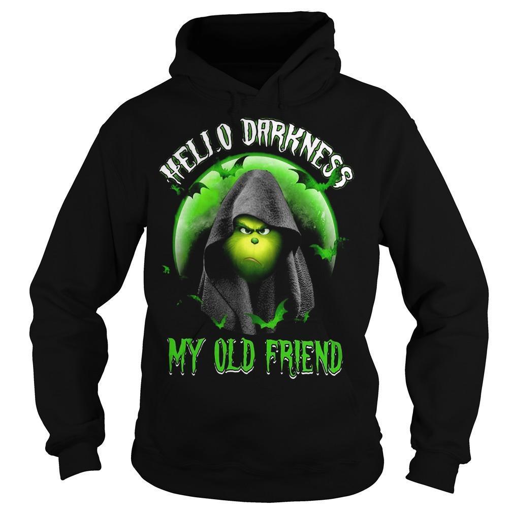 Grinch Hello Darkness My Old Friend Hoodie