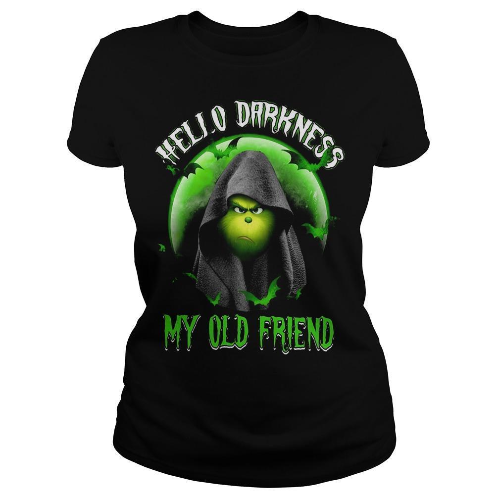Grinch Hello Darkness My Old Friend Longsleeve