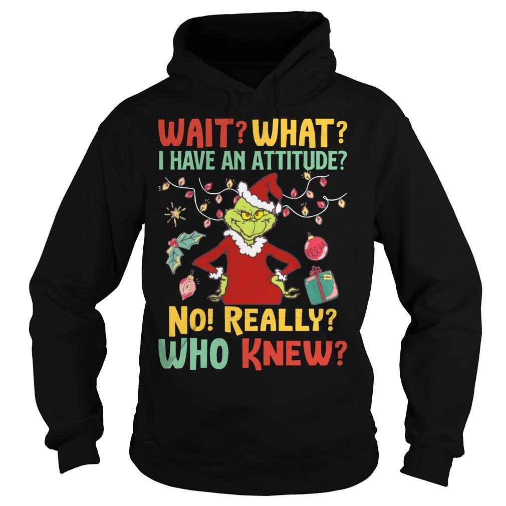 Grinch Wait What I Have An Attitude No Really Who Knew Hoodie