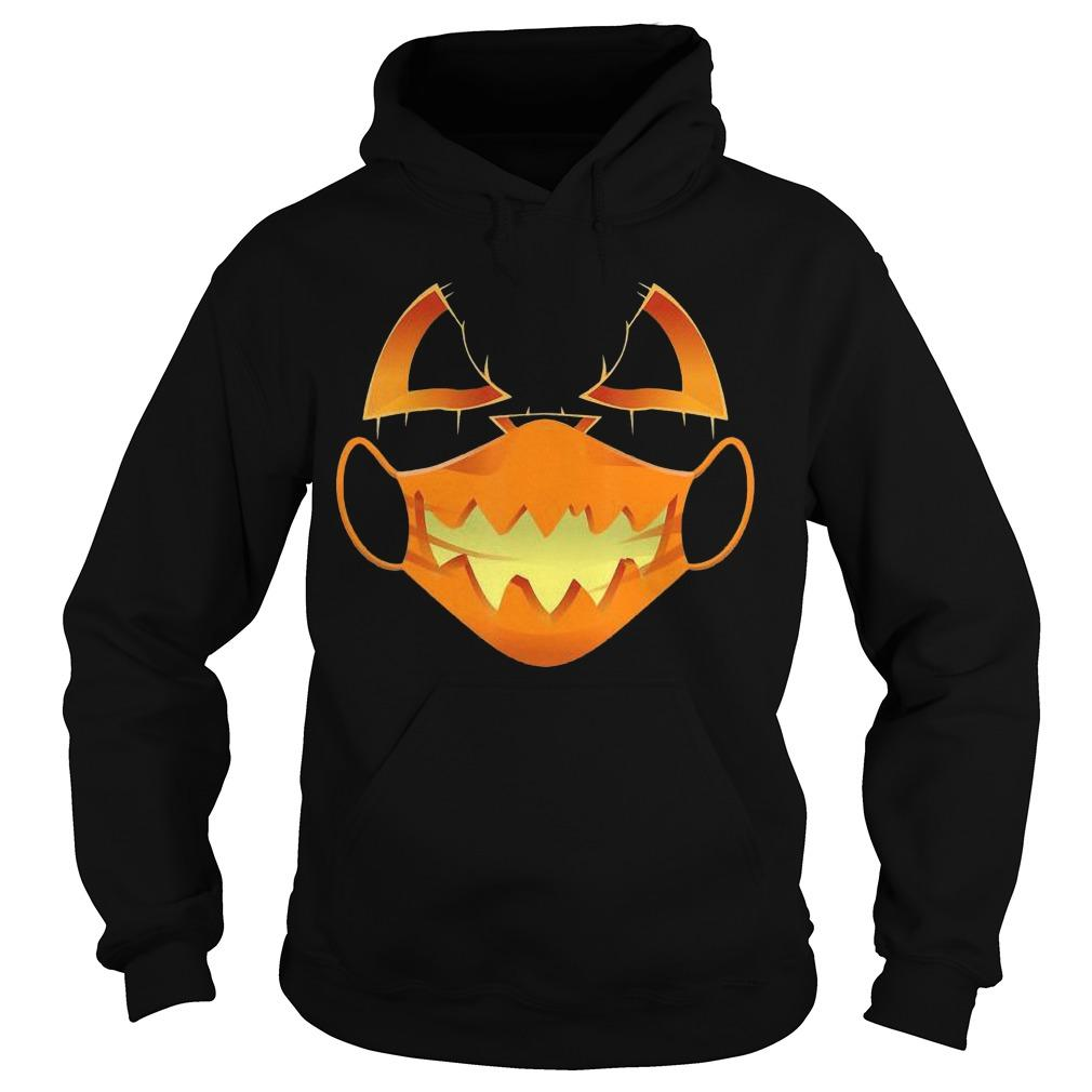 Halloween Covid Mask Costume Scary Pumpkin Hoodie