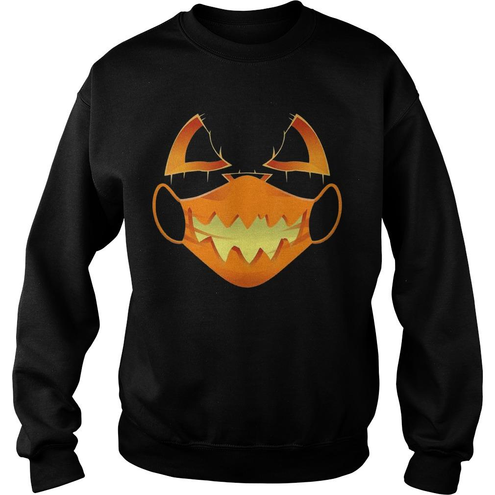 Halloween Covid Mask Costume Scary Pumpkin Sweater