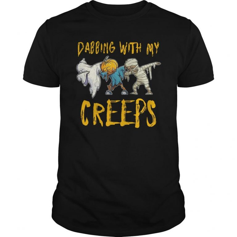 Halloween Dabbing With My Creeps Shirt
