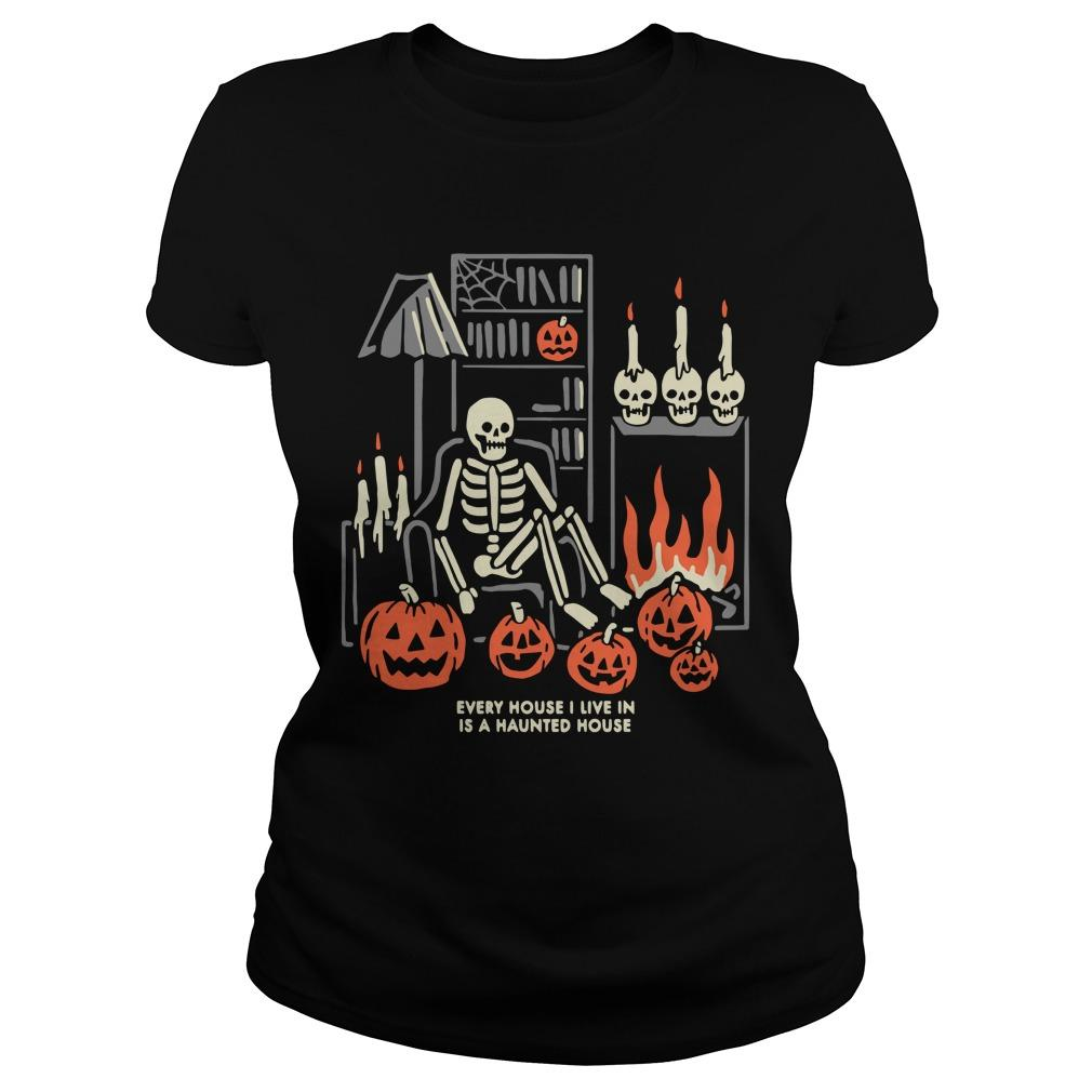 Halloween Every House I Live In Is A Haunted House Longsleeve