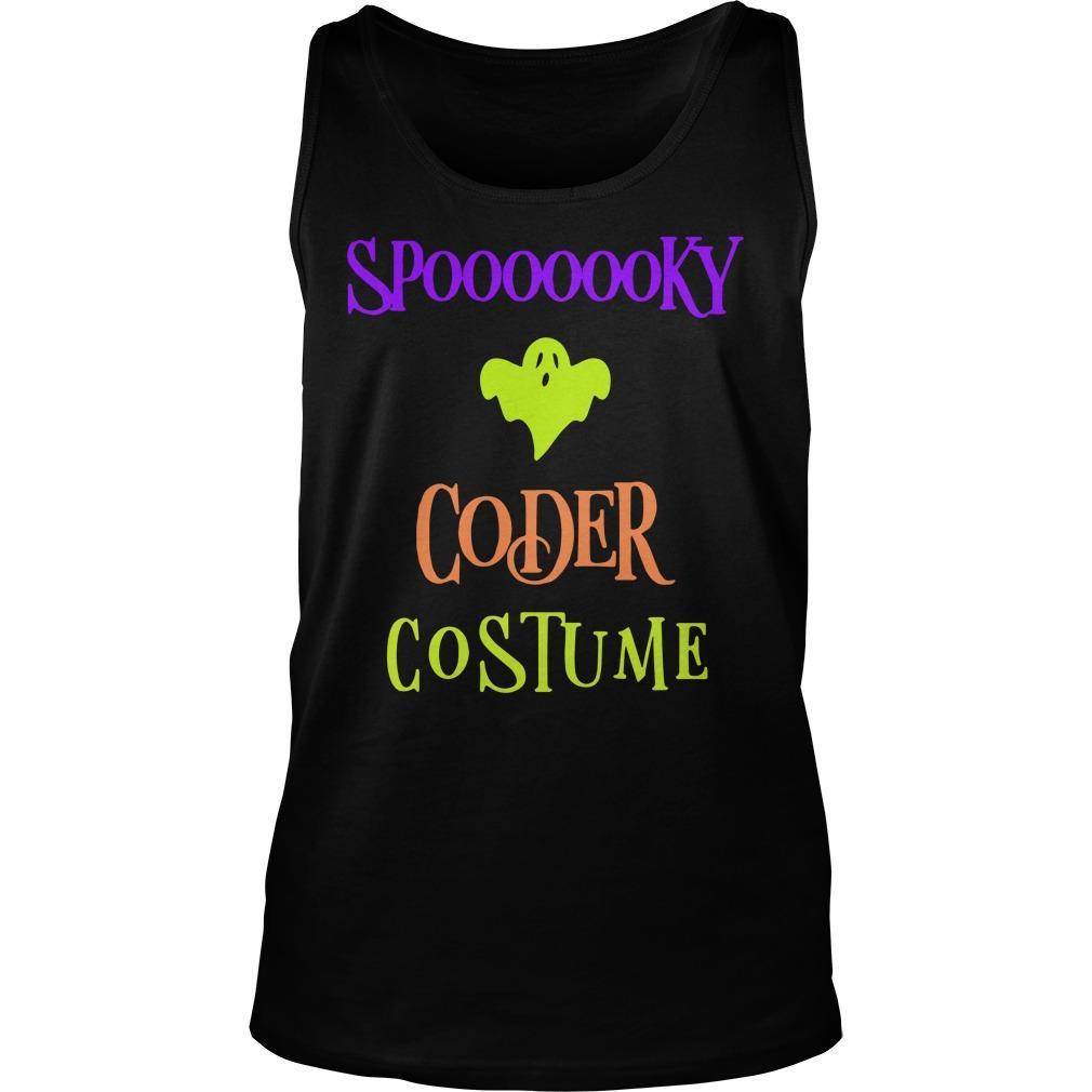 Halloween Humor Day Spooky Coder Costume Tank Top