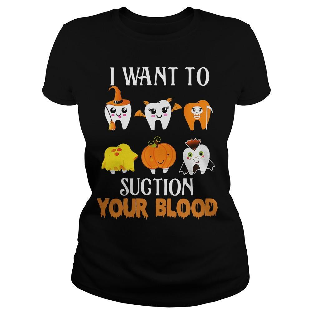 Halloween I Want To Suction Your Blood Longsleeve
