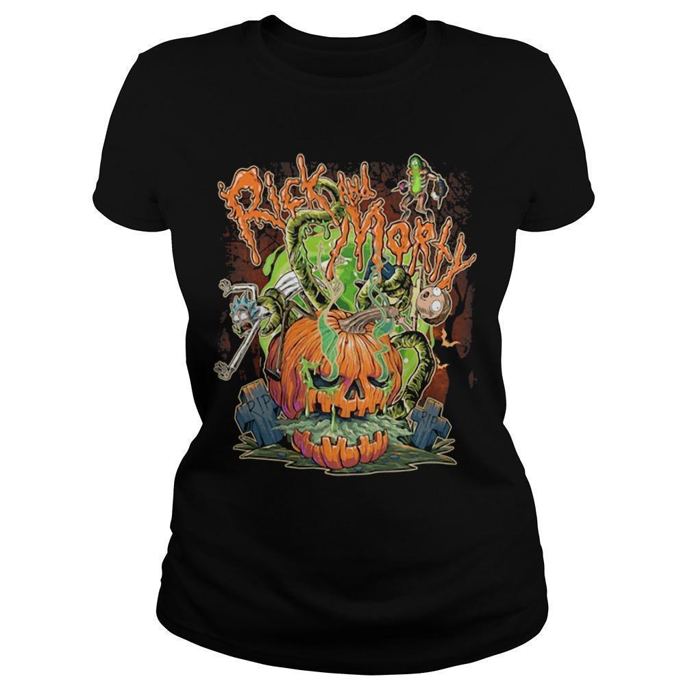 Halloween Pumpkin Rick And Morty Longsleeve
