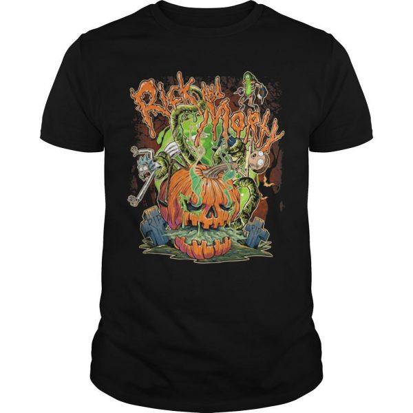 Halloween Pumpkin Rick And Morty Shirt